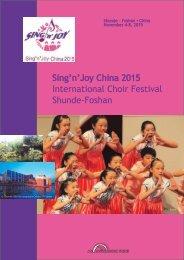 Sing'n'Joy China - Program brochure