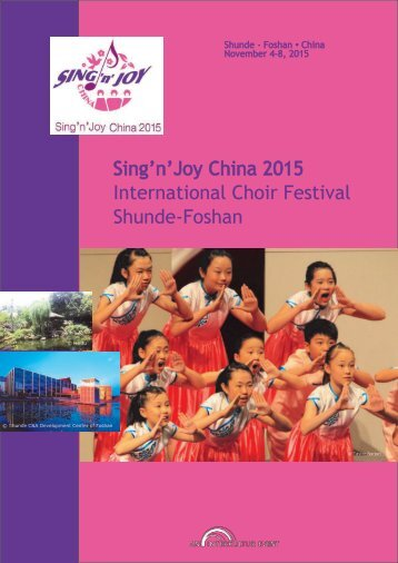 Sing'n'Joy China - Program brochure