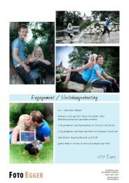 Foto Egger - Preisliste Hochzeit 10-2015