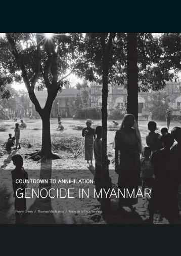 GENOCIDE IN MYANMAR
