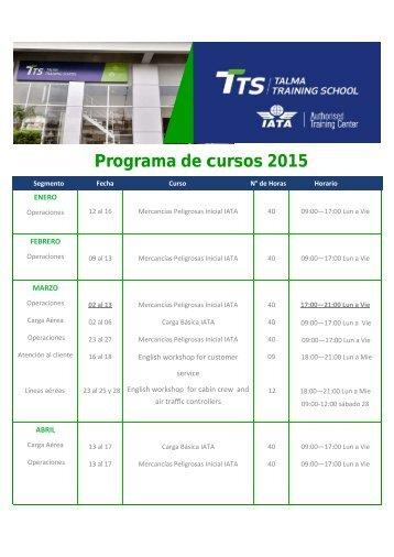Programa de cursos 2015