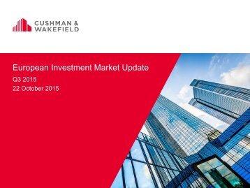 European Investment Market Update