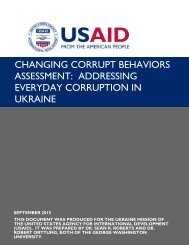 ASSESSMENT ADDRESSING EVERYDAY CORRUPTION IN UKRAINE
