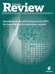OpenStack as the API framework for NFV the benefits and the extensions needed