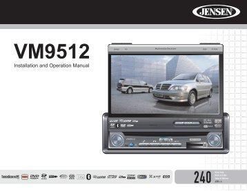 Jensen vm9512 manual