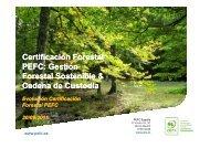 Certificación Forestal PEFC Gestión Forestal Sostenible & Cadena de Custodia