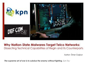 Why Nation-State Malwares Target Telco Networks