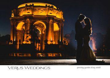 Verus Weddings detailed pricing guide 2015-2016