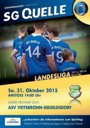 Stadionheft zum Spiel gegen den ASV Veitsbronn-Siegelsdorf