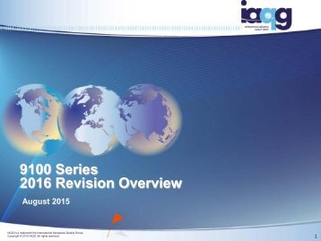 9100 Series 2016 Revision Overview