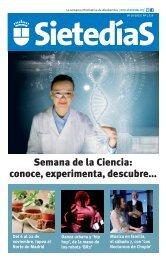 Semana de la Ciencia conoce experimenta descubre..