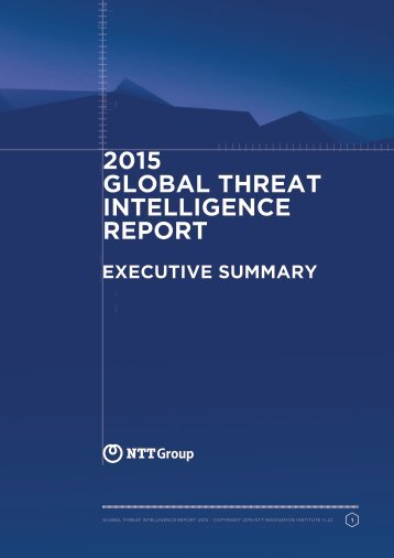 2015 GLOBAL THREAT INTELLIGENCE REPORT