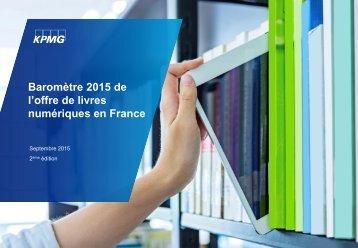 Baromètre 2015 de l'offre de livres numériques en France