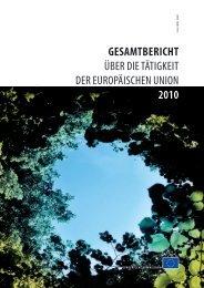 Gesamtbericht über die Tätigkeit der Europäischen Union ... - Europa