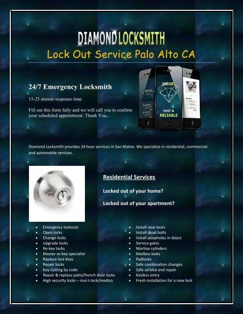 Lock Out Service Palo Alto CA