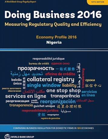 Economy Profile 2016 Nigeria