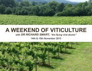 A WEEKEND OF VITICULTURE