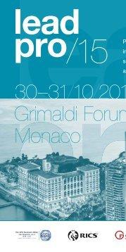 30–31/10/2015 Grimaldi Forum Monaco