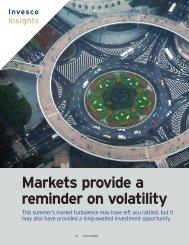 Markets provide a reminder on volatility