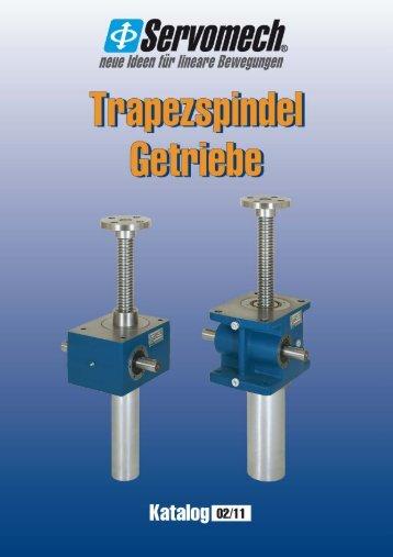 SERVOMECH Trapezspindel Getriebe