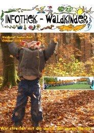 Infothek Waldkinder  - Waldbrief November - Wir streifen mit dir durch den puren Herbst