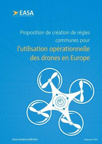 l'utilisation opérationnelle des drones en Europe