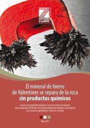 El mineral de hierro de Valentines se separa de la roca sin productos químicos