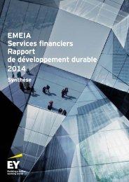 EMEIA Services financiers Rapport de développement durable 2014