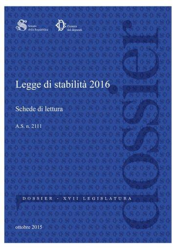 Legge di stabilità 2016