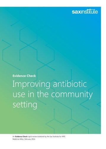 Improving antibiotic use in the community setting