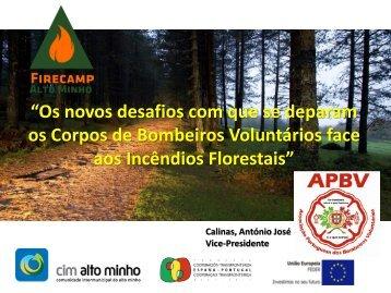 Os novos desafios com que se deparam os Corpos de Bombeiros Voluntários face aos Incêndios Florestais