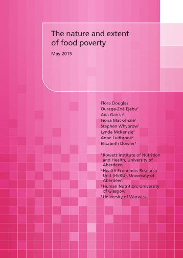 The nature and extent of food poverty