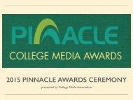 2015 PINNACLE AWARDS CEREMONY