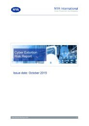 Cyber Extortion Risk Report