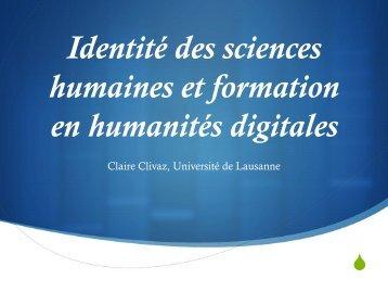 humaines et formation en humanités digitales