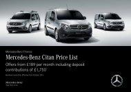 Mercedes‐Benz Citan Price List