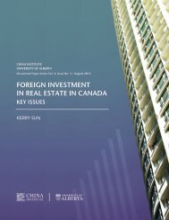 FOREIGN INVESTMENT IN REAL ESTATE IN CANADA