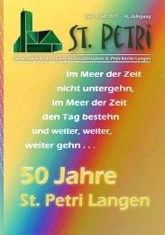 Gemeindebrief 2011-6 Juni & Juli