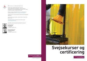 Svejsekurser og certificering