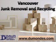 Vancouver Junk Removal & Recycling | DuMonde Services Mgmt Inc