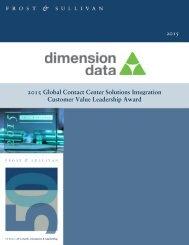 2015 Global Contact Center Solutions Integration Customer Value Leadership Award