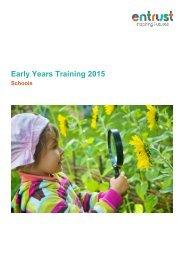Early Years Training 2015