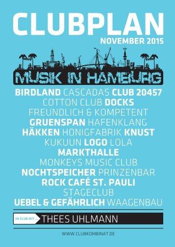 Clubplan Hamburg - November 2015