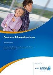 Programm Bildungsforschung - Baden-Württemberg Stiftung