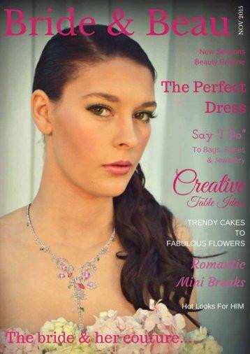 Bride & Beau Magazine Nov 15