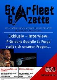 Starfleet-Gazette, Ausgabe 033
