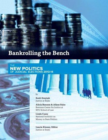 Bankrolling the Bench