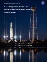Orb–3 Accident Investigation Report
