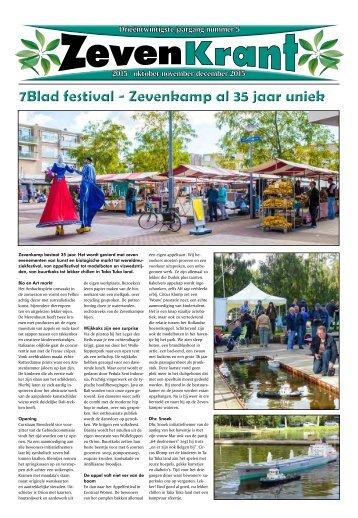 7Blad festival - Zevenkamp al 35 jaar uniek