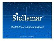 Digital IP for Analog Interfaces